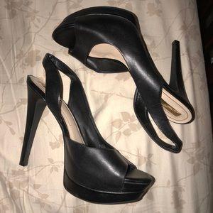 Jessica Simpson Black Open Toe Pumps